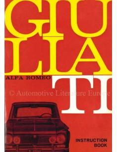1966 ALFA ROMEO GIULIA TI OWNER'S MANUAL ENGLISH