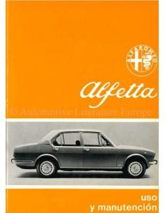 1972 ALFA ROMEO ALFETTA OWNER'S MANUAL SPANISH