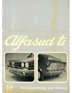 1974 ALFA ROMEO ALFASUD TI BETRIEBSANLEITUNG DEUTSCH
