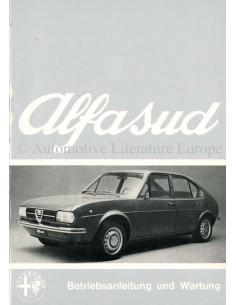 1972 ALFA ROMEO ALFASUD BETRIEBSANLEITUNG DEUTSCH