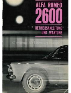 1964 ALFA ROMEO 2600 OWNERS MANUAL GERMAN