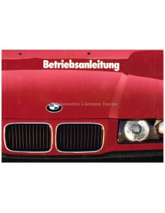 1991 BMW 3ER BETRIEBSANLEITUNG DEUTSCH