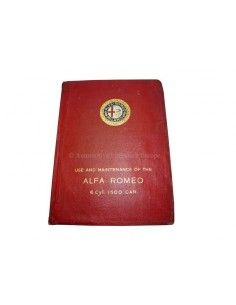 1928 ALFA ROMEO 1500 6C OWNERS MANUAL ENGLISH