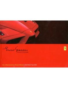 2003 FERRARI ENZO OWNERS MANUAL HANDBOOK US VERSION 1856/03
