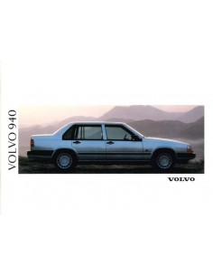 1991 VOLVO 940 BROCHURE DUTCH