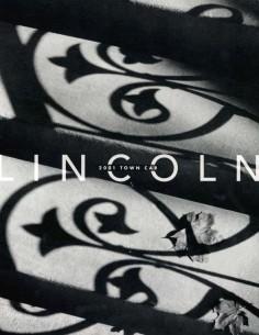 2001 LINCOLN TOWN CAR PROSPEKT ENGLISCH