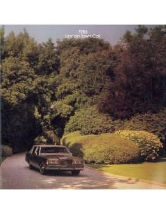1986 LINCOLN TOWN CAR PROSPEKT ENGLISCH