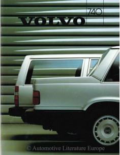 1986 VOLVO 740 PROSPEKT NIEDERLÄNDISCH