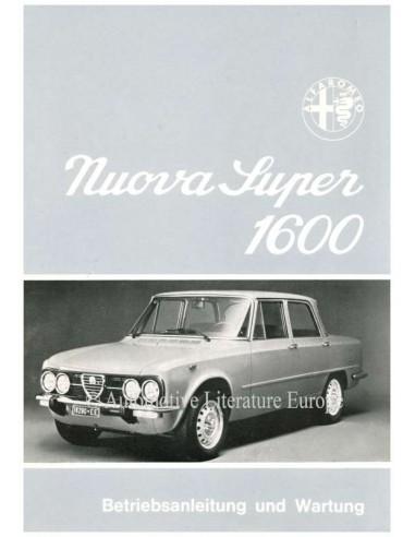 1974 ALFA ROMEO GIULIA NUOVA SUPER 1600 INSTRUCTIEBOEKJE DUITS