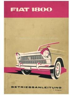 1961 FIAT 1800 OWNERS MANUAL GERMAN