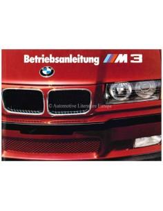 1992 BMW M3 COUPE BETRIEBSANLEITUNG DEUTSCH