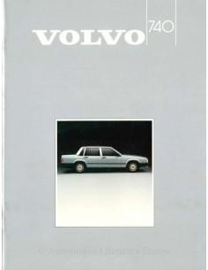 1985 VOLVO 740 BROCHURE NEDERLANDS