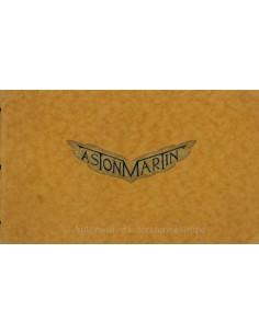 1930 ASTON MARTIN VOOROORLOGS BROCHURE ENGELS