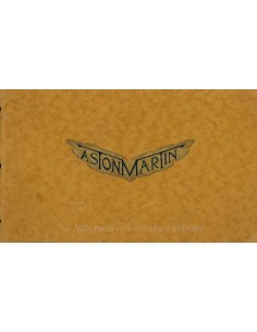 1930 ASTON MARTIN PRE-WAR BROCHURE ENGLISH