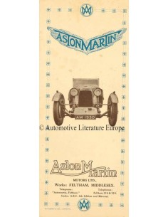 1930 ASTON MARTIN VOR-KRIEG PROGRAMM PROSPEKT ENGLISCH