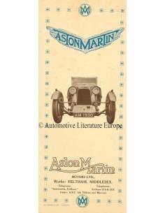 1930 ASTON MARTIN VOOROORLOGS PROGRAMMA BROCHURE ENGELS