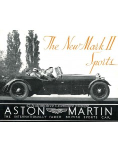 1934 ASTON MARTIN MARK II SPORTS PROSPEKT ENGLISCH