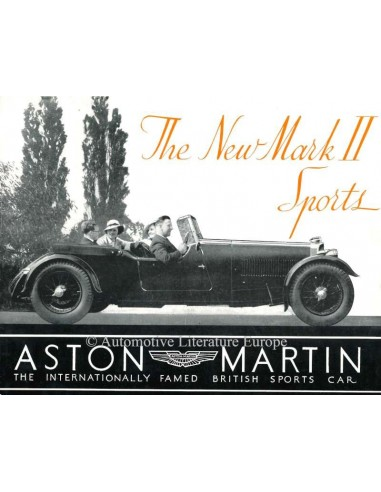 1934 ASTON MARTIN MARK II SPORTS BROCHURE ENGLISH