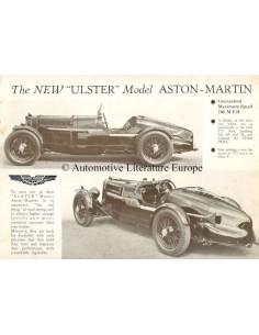 1934 ASTON MARTIN ULSTER DATENBLATT ENGLISCH