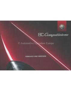 2008 ALFA ROMEO 8C COMPETIZIONE INSTRUCTIEBOEKJE DUITS
