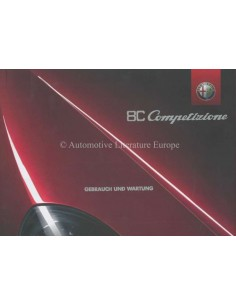 2008 ALFA ROMEO 8C COMPETIZIONE OWNERS MANUAL GERMAN