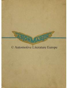 1931 ASTON MARTIN PROGRAMM PROSPEKT ENGLISCH
