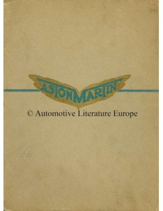 1931 ASTON MARTIN RANGE BROCHURE ENGLISH
