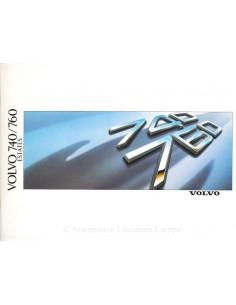1988 VOLVO 740 / 760 ESTATES PROSPEKT NIEDERLÄNDISCH