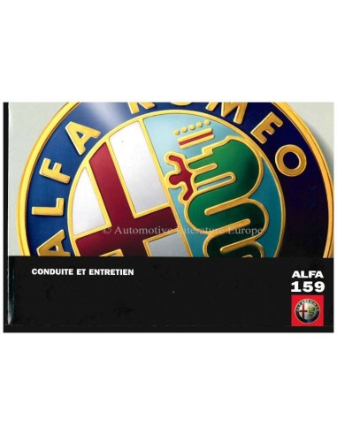 2006 ALFA ROMEO 159 OWNERS MANUAL FRENCH