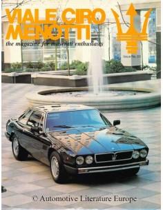 1993 MASERATI VIALE CIRO MENOTTI MAGAZINE ENGLISH