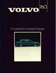 1985 VOLVO 760 BROCHURE ENGLISH