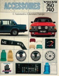 1984 VOLVO 740 / 760 ZUBEHÖR PROSPEKT NIEDERLÄNDISCH