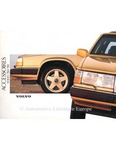 1988 VOLVO 740 / 760 ZUBEHÖR PROSPEKT NIEDERLÄNDISCH