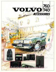 1986 VOLVO 740 / 760 ZUBEHÖR PROSPEKT NIEDERLÄNDISCH