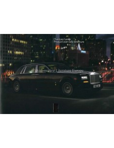 2013 ROLLS ROYCE PHANTOM FAMILY BROCHURE ENGELS