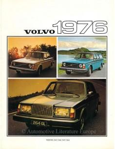 1976 VOLVO PROGRAMM PROSPEKT NIEDERLÄNDISCH