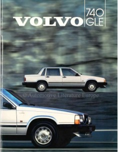 1984 VOLVO 740 GLE BROCHURE DUTCH