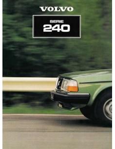 1985 VOLVO 240 SERIE PROSPEKT NIEDERLÄNDISCH