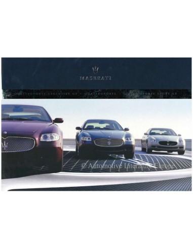 2005 MASERATI QUATTROPORTE V EXECUTEIVE + SPORT GT BROCHURE