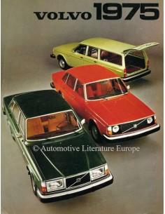 1975 VOLVO PROGRAMM PROSPEKT NIEDERLÄNDISCH