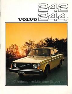 1976 VOLVO 242 & 244 SERIE PROSPEKT NIEDERLÄNDISCH