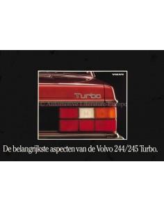 1983 VOLVO 244 & 245 TURBO SERIE PROSPEKT NIEDERLÄNDISCH
