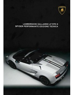 2012 LAMBORGHINI GALLARDO LP 570-4 SPYDER PERFORMANTE BROCHURE ENGLISH