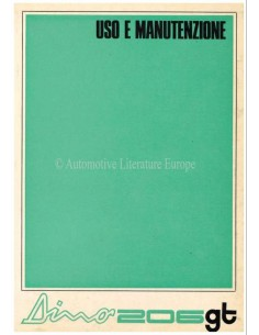 1968 FERRARI DINO 206 GT BETRIEBSANLEITUNG 26/68