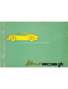 1969 FERRARI DINO 206 GT SPARE PARTS CATALOG 39/69