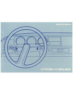 1974 CITROEN D / DS OWNERS MANUAL FRENCH