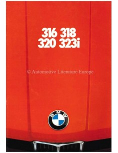 1978 BMW 3 SERIES BROCHURE GERMAN
