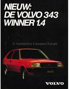 1981 VOLVO 343 WINNER 1.4 BROCHURE DUTCH