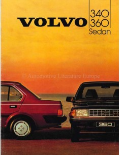 1984 VOLVO 340 / 360 BROCHURE DUTCH