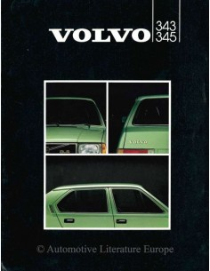 1982 VOLVO 343 / 345 BROCHURE DUTCH
